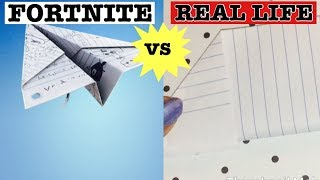 FORTNITE PAPER PLANE GLIDER IN REAL LIFE | HOW TO MAKE A PAPER AIRPLANE