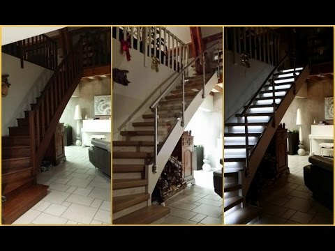 Rampe d 39 escalier en kit clairage des marches youtube for Rampe d escalier lapeyre
