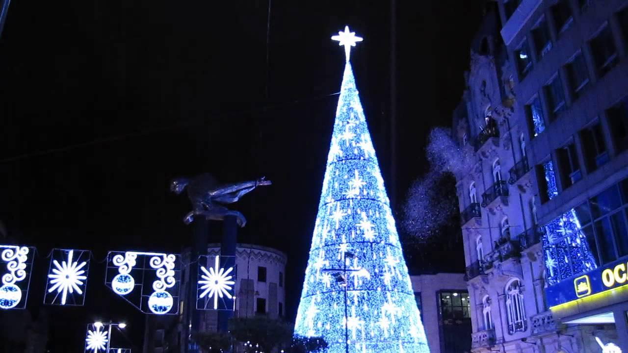 As fue el encendido del rbol de navidad en vigo youtube - Luces arbol de navidad ...