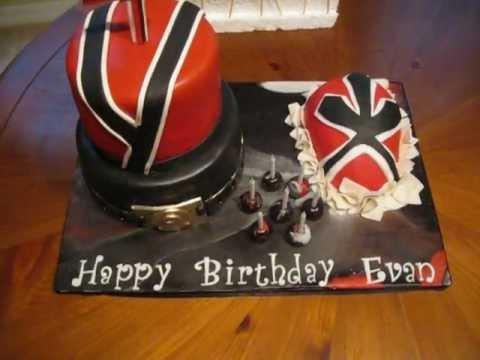 Red Power Ranger Birthday Cake