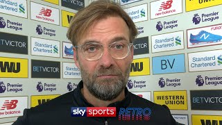 Jurgen Klopp gets angry in post-match interview after the Merseyside derby