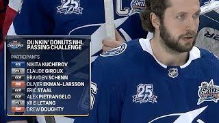 Матч всех звёзд NHL 2018, Конкурс на точность передач...