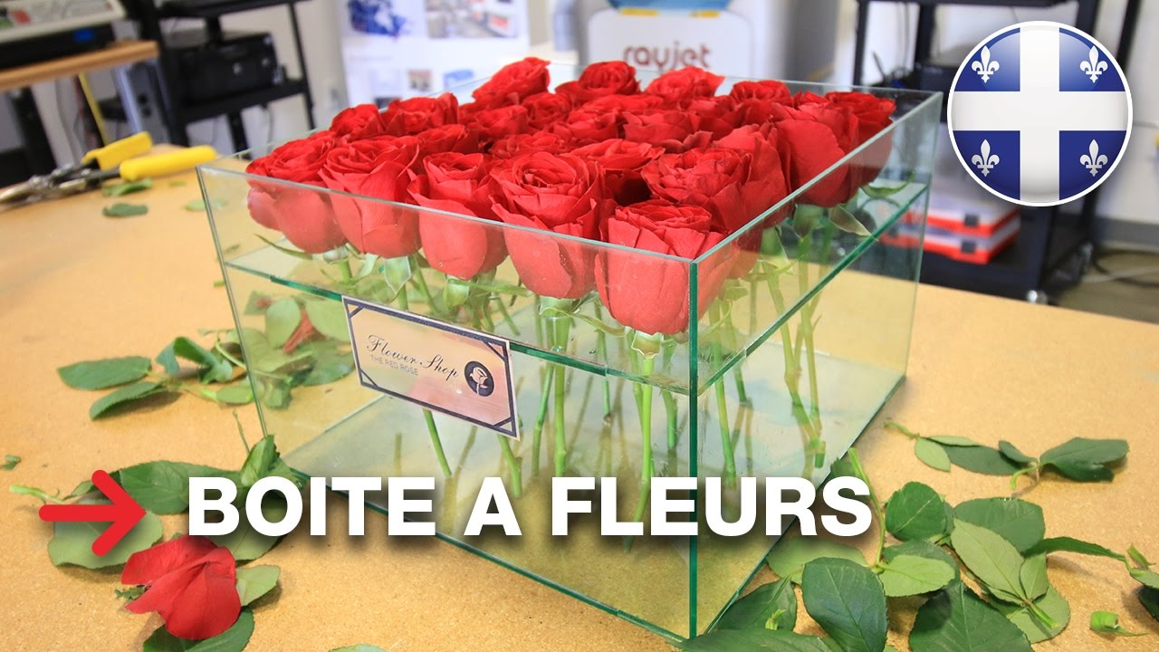 boite à fleurs   boite à fleurs en acrylique   troglass - youtube