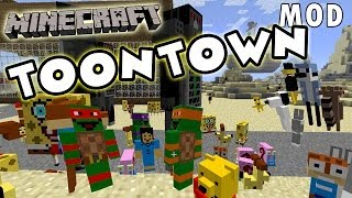 Minecraft Toontown Mod Showcase - Ninja Turtles, Snoopy, Spongebob, Looney Tunes + MORE