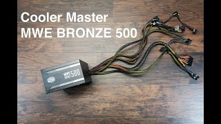 CoolerMaster MWE500 Bronze Unboxing and Overview