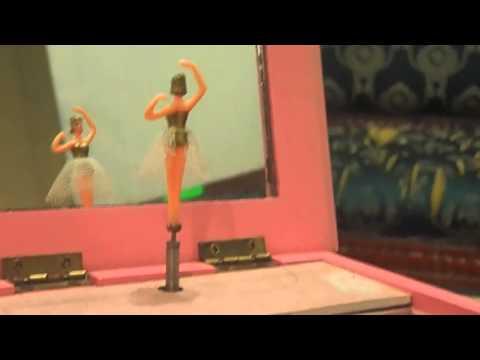 Spinning Ballerina Jewelry Music Box from 90's
