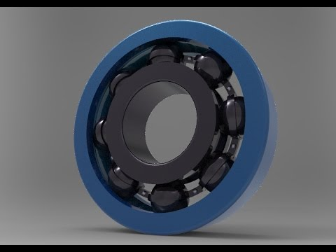 ball bearing exploded view animation.