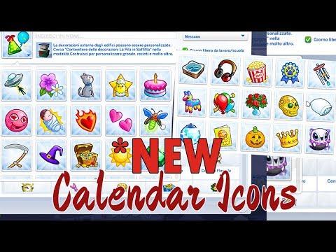 📅 Nuove ICONE e TRADIZIONI per il Calendario! // The Sims 4 Mod thumbnail