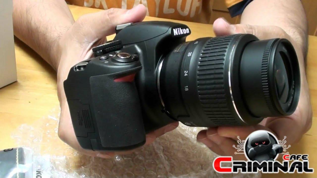 Nikon D3100 55 200mm Lens Kit Unboxing