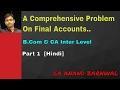 Comprehensive Problem on Final Accounts (B Com , CA Inter Level)  Part 1 [Hindi]