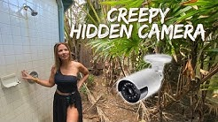 Creepy Hidden Camera at our Rental House | *Looking at our outdoor shower*