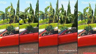 GTA 5 Pc Vs PS4 Vs PS3 Vs Xbox One Vs Xbox 360 Graphics Comparison