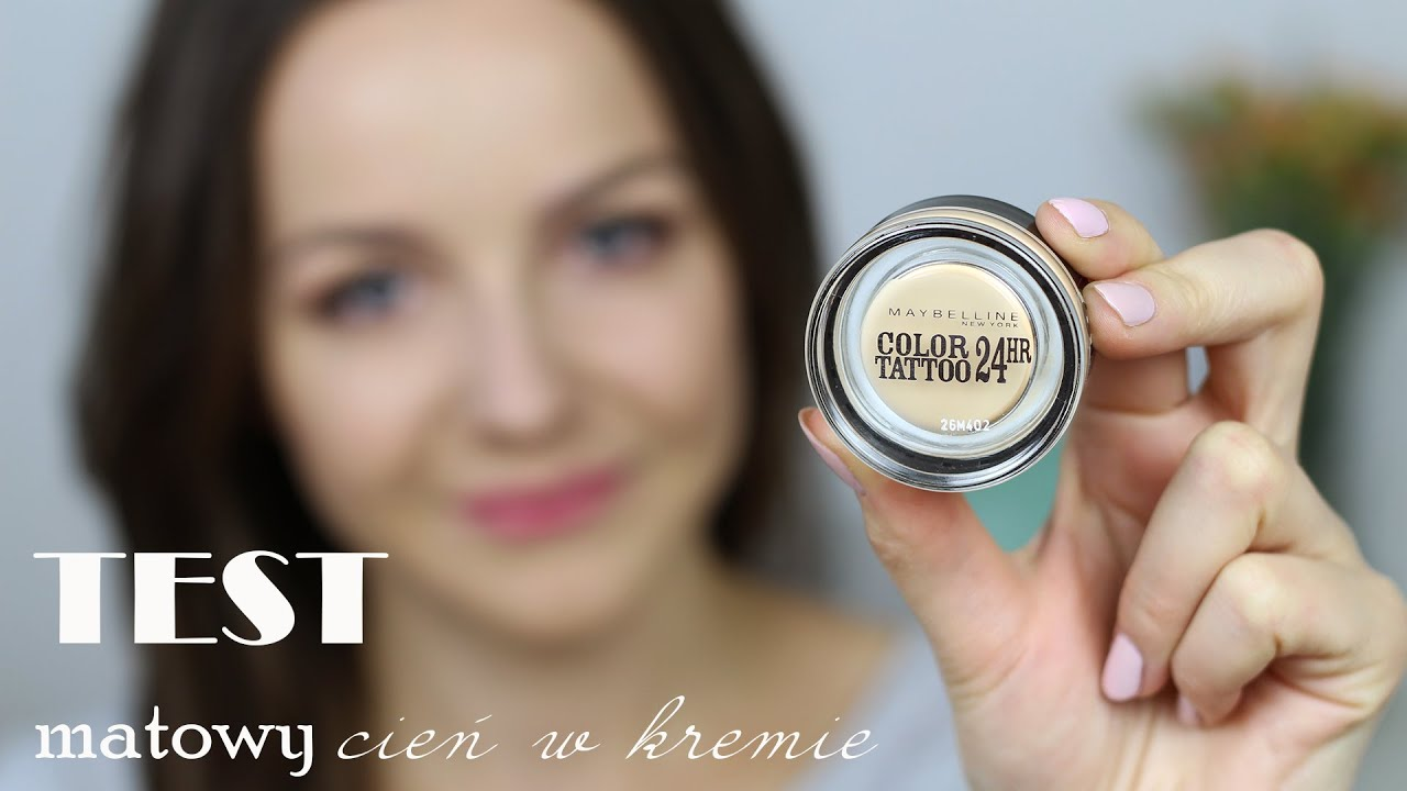 Test cie matowy maybelline color tattoo youtube for Maybelline color tattoo creme de nude
