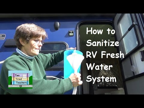 How to Sanitize RV Fresh Water