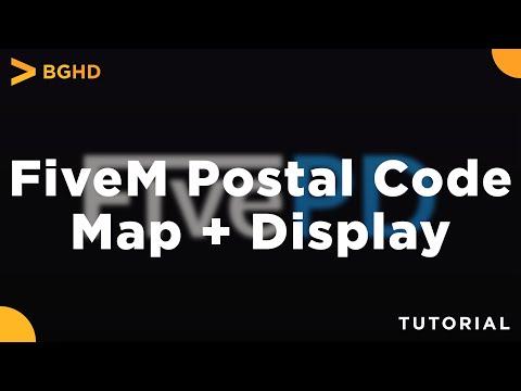 FiveM Postal Code Map \u0026 Display - Install Tutorial