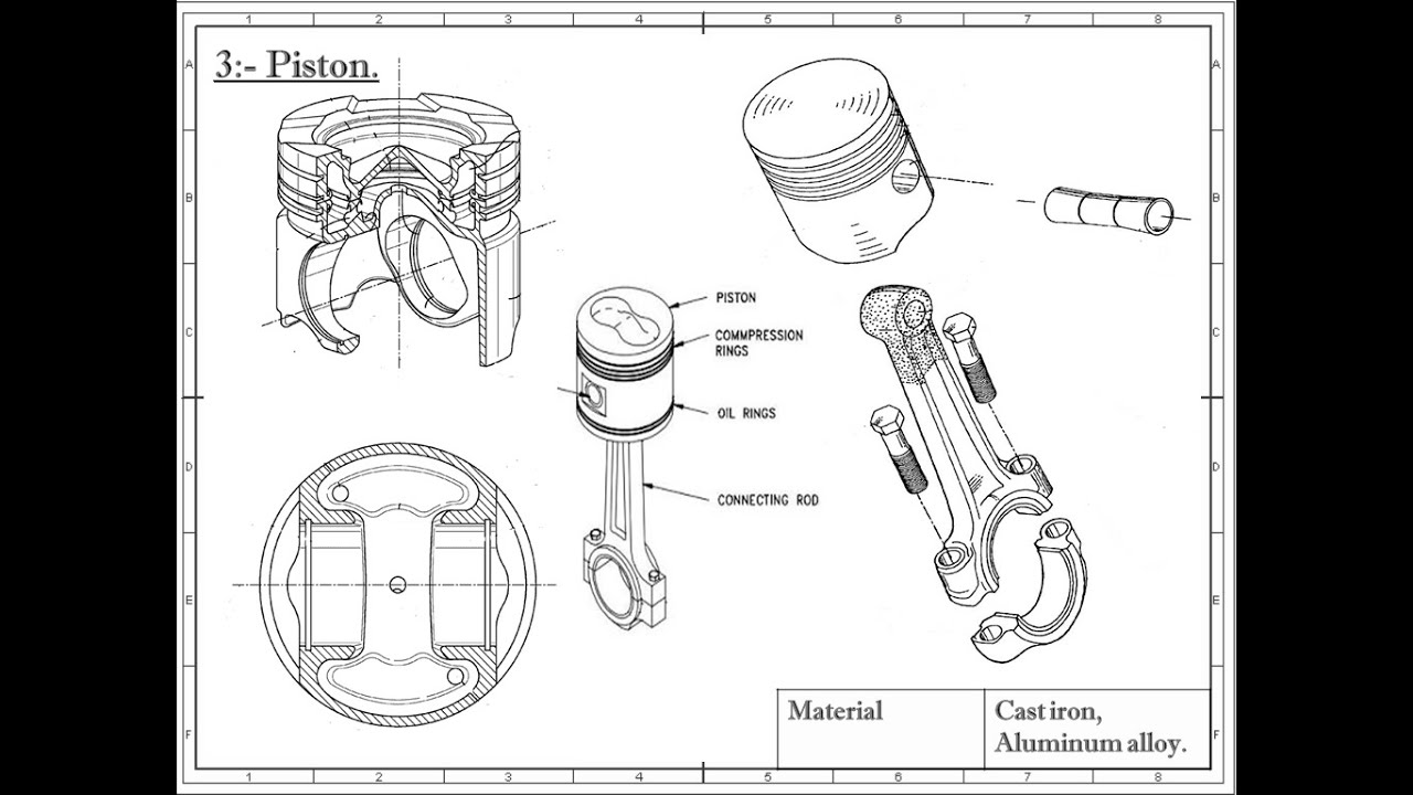 ic engine parts with pictures