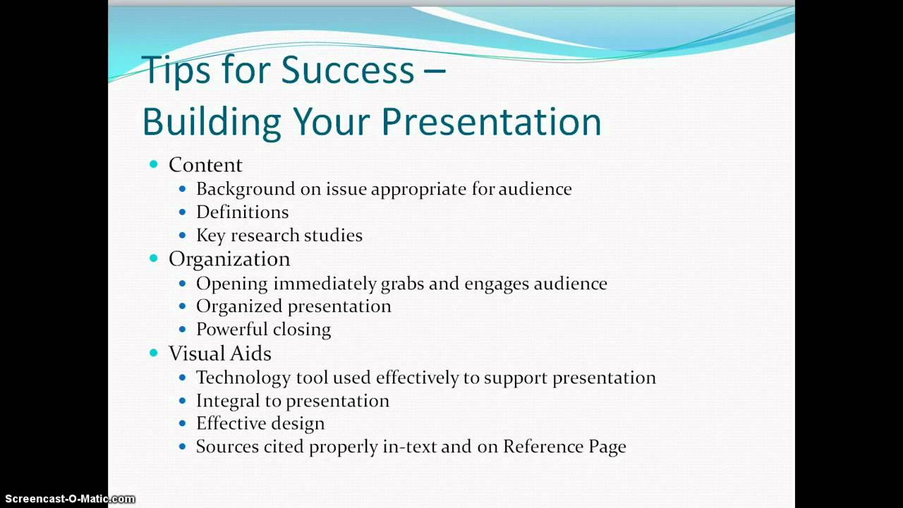Presentation writing
