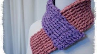 【かぎ針編み】 How to crochet a Neck warmer マフラー風ネックウォーマーの編み方 by meetang