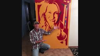 Diana Widmaier Picasso Portrait 4 ft x 6 ft Painting Pablo Picasso Tribute Original Abstract Pop Art