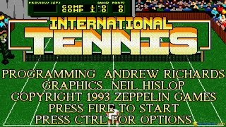 International Tennis gameplay (PC Game, 1992)