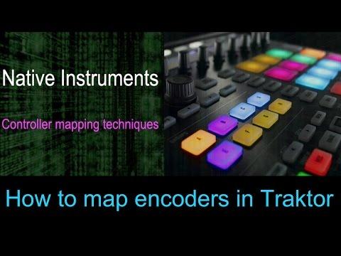 How to map Encoders in Traktor