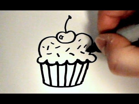 how to draw a cartoon cupcake v2 youtube rh youtube com how to draw a cartoon birthday cupcake how do you draw a cartoon cupcake