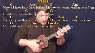Hallelujah (Rufus Wainwright) Ukulele Cover Lesson with Chords/Lyrics