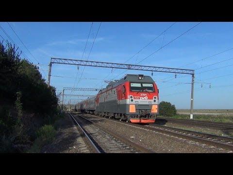 Электровоз ЭП1М-737 с поездом №198 Иркутск — Кисловодск