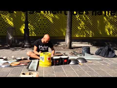 Dario Rossi Drummer Amazing in Paris full performance at Les Halles SEP2015