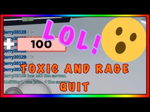 I MADE A TOXIC PLAYER RAGE QUIT | ROBLOX Arsenal