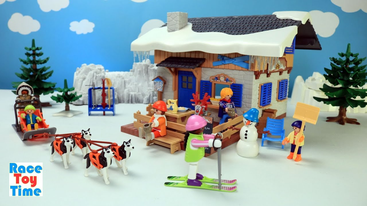 playmobil ski lodge building playset buid and play fun toys for kids - Playmobil Ski