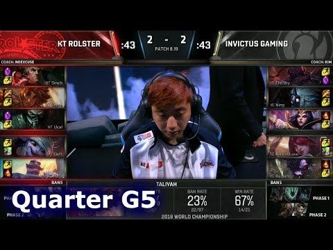 KT vs IG Game 5 | Quarter Final S8 LoL Worlds 2018 | KT Rolster vs Invictus Gaming G5