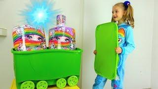 Polina y la caja mágica con unicornietas Sorpresa de pichoncito Unicornio