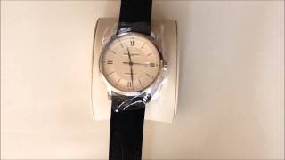 ボーム&メルシェ メンズ腕時計 Baume & Mercier Men's 8868 Classima Executives Silver Guilloche Dial Watch【1306】