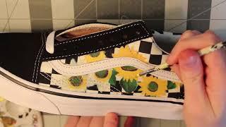 Custom Sunflower Checkered Old Skool