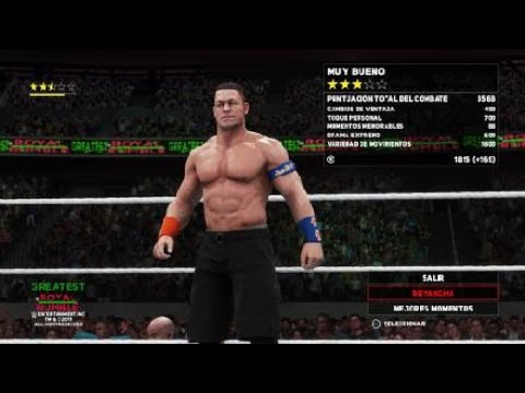WWE 2K18|Simulacion Jhon Cena vs Triple H | WWE Greatest Royal Rumble