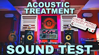 SOUND TEST Bass Traps - Oudimmo Acoustic Treatment for My Studio