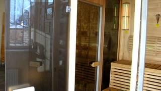 Дверь для бани и сауны стеклянная матовая