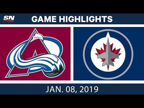 NHL Highlights | Avalanche vs. Jets - Jan. 8, 2019