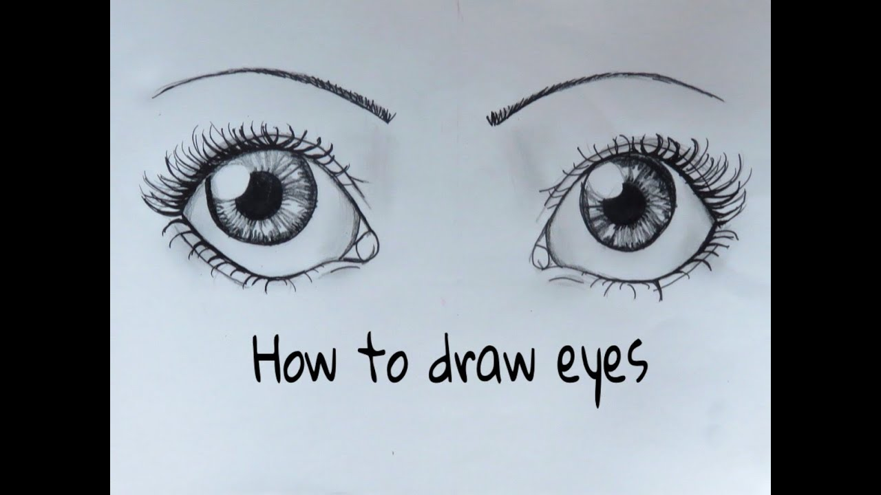 how to draw eyes youtube