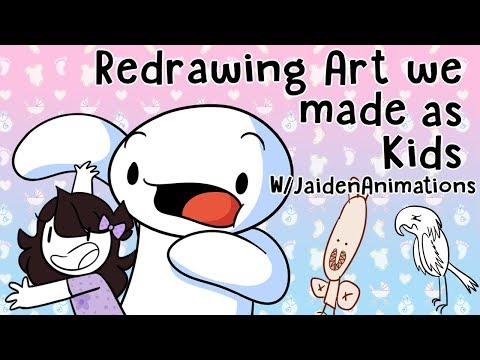 Thumbnail: Redrawing Art we made as Kids w/JaidenAnimations