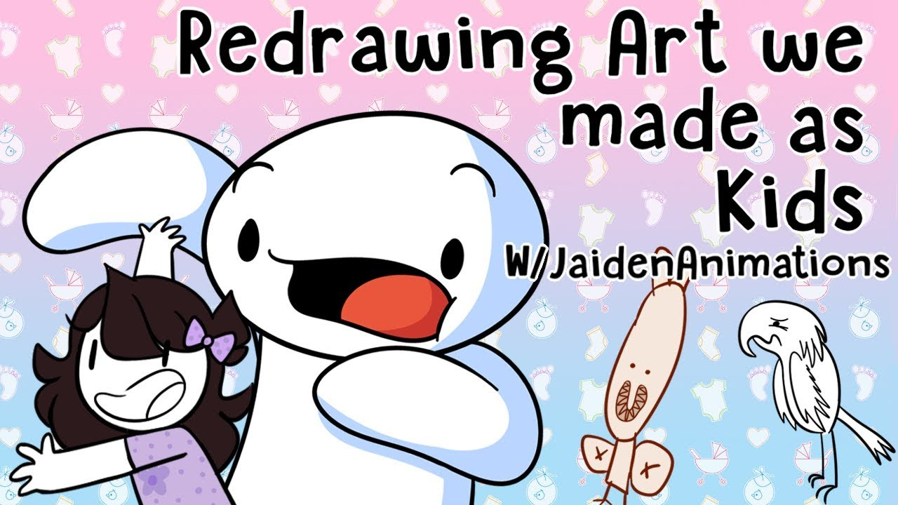 Redrawing Art we made as Kids w/JaidenAnimations