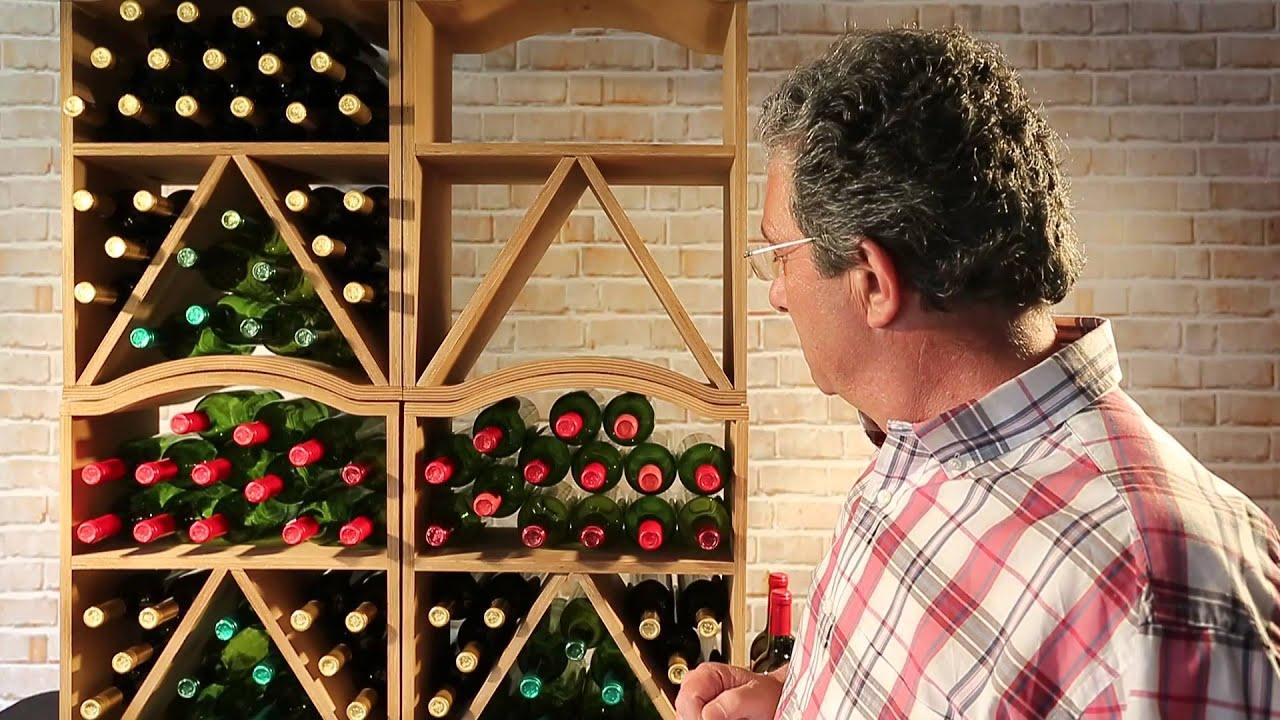 Botellero MENCIA para 30 botellas vino  YouTube