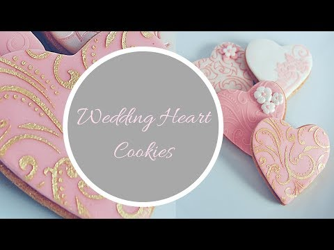 WEDDING HEART COOKIE Favours Tutorial   By Ilona Deakin From Tiers Of Happiness