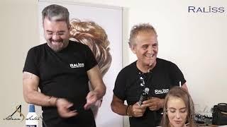 Raliss ürünleri ile saçı açma işlemi Adnan Serter- Salih Pehlivan