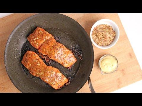 Honey Mustard Salmon Recipe Laura Vitale Laura in the Kitchen Episode 922