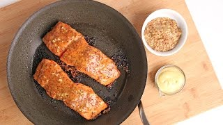 Honey Mustard Salmon Recipe - Laura Vitale - Laura In The Kitchen Episode 922