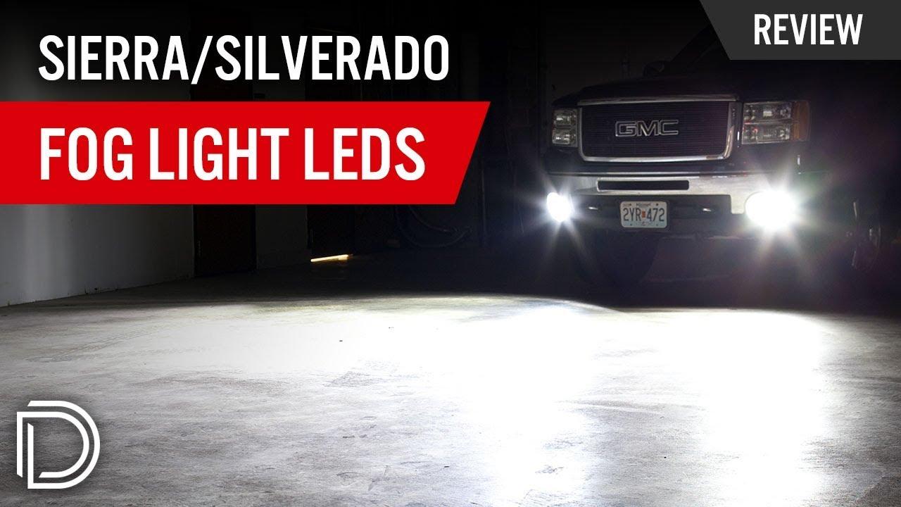 Gmc Sierra Chevy Silverado Fog Light Leds Youtube
