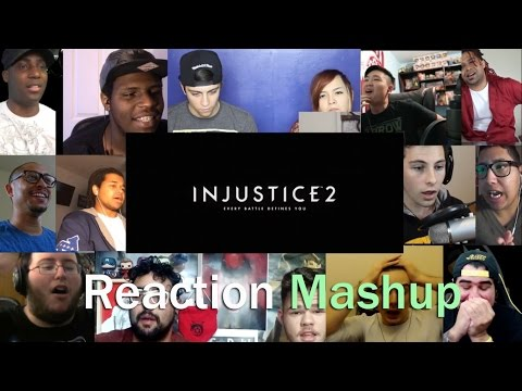 Injustice 2  Announce Trailer REACTION MASHUP