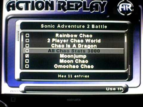 Help Video - How To Make Chao Action Replay Codes Work (SA2B)